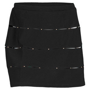 ELIZA AUDLEY WOMENS COPPER TACK TENNIS SKORT BLACK
