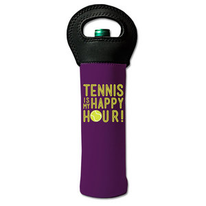 4 WOODEN SHOES TENNIS IS MY HAPPY HOUR WINE TOTE