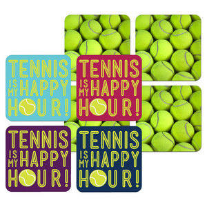 Tennis Coaster 4 Pack