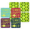 4 WOODEN SHOES Tennis Coaster 4 Pack