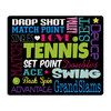 Tennis Mouse Pad TENNIS_TERMS_BLACK