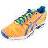 ASICS Men`s Gel Solution Speed 2 Tennis Shoes Flash Orange and Blue