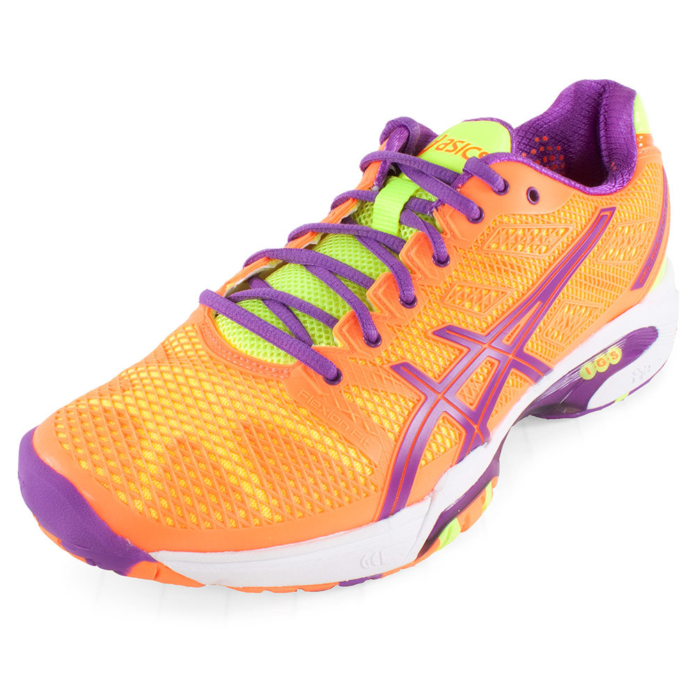 ASICS Women`s Gel Resolution 5 Tennis Shoes Grape and White