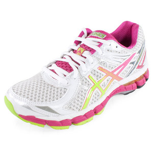 ASICS WOMENS GT 2000 2 RUN SHOES WHITE/LIME
