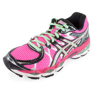 ASICS WOMENS GEL NIMBUS 16 RUN SHOE HT PK/GN