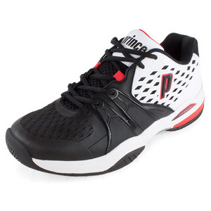 PRINCE MEN`S WARRIOR TENNIS SHOES WHITE AND BLA