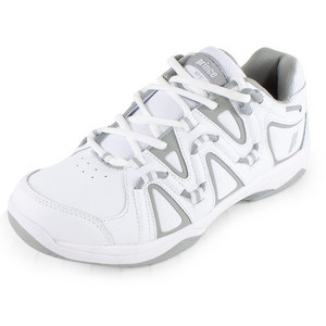 Women`s QT Scream 4 Tennis Shoes White and Silver