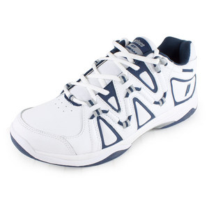 PRINCE MENS QT SCREAM 4 TENNIS SHOES WHITE/NAVY