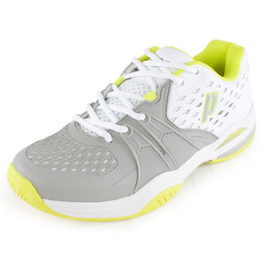 PRINCE WOMENS WARRIOR TENNIS SHOES WHITE/GRAY