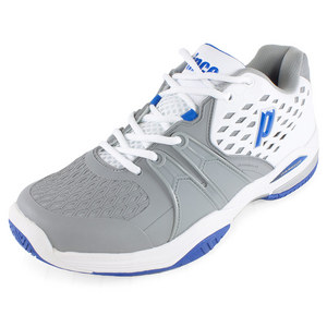 PRINCE MENS WARRIOR TENNIS SHOES WHITE/GRAY