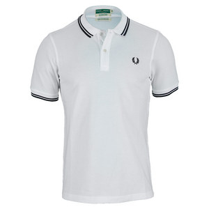 FRED PERRY MENS WICKABLE TIPPED TENNIS POLO