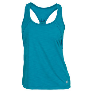 ELEVEN WOMENS DOWN THE LINE TENNIS TANK TEAL