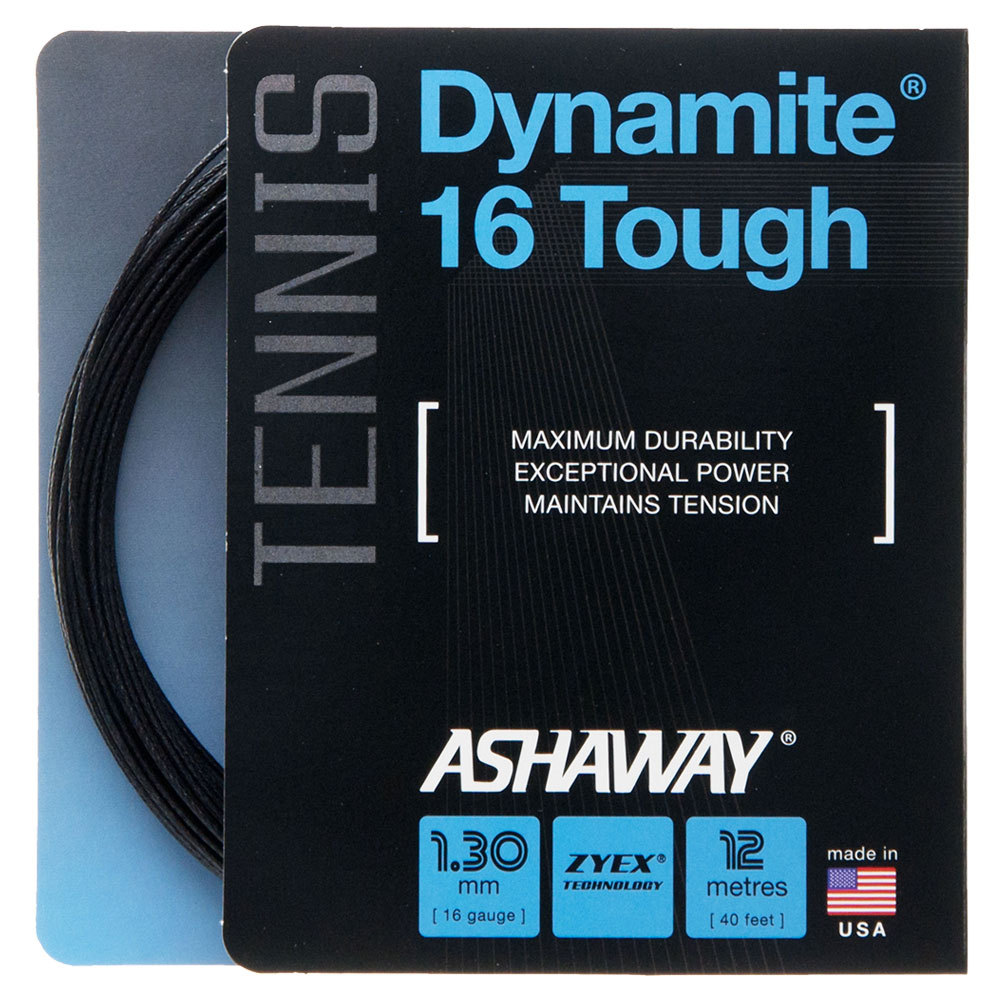 Dynamite 16g Tough Tennis String Black
