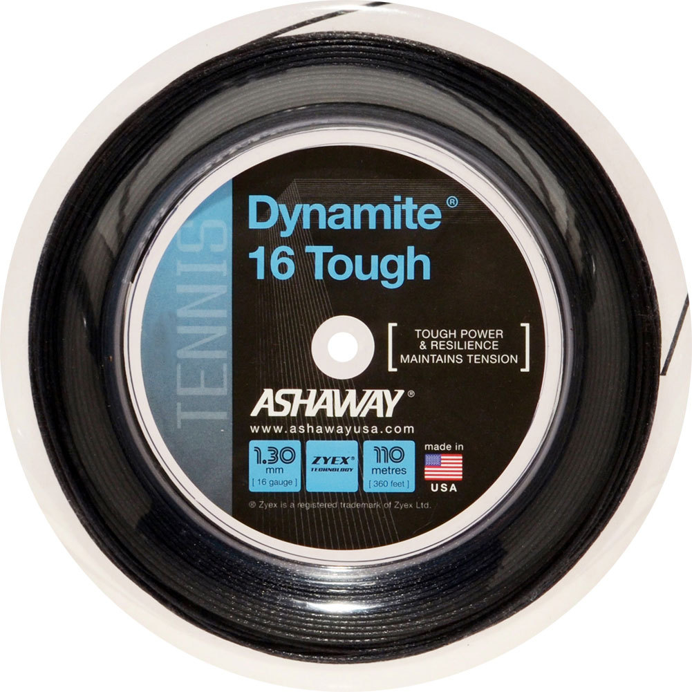 Dynamite 16g Tough Tennis String Reel Black