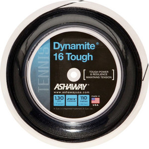 ASHAWAY DYNAMITE 16G TOUGH TENNIS STRING REEL BK