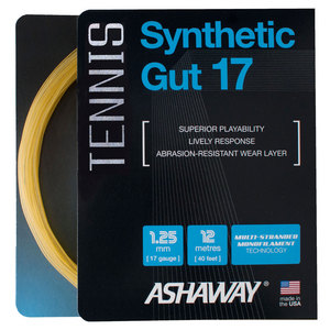 Synthetic Gut 17G Tennis String Gold