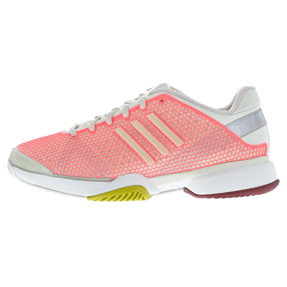 Women`s Stella McCartney Barricade Tennis Shoes Poppy Pink and Soft Powder