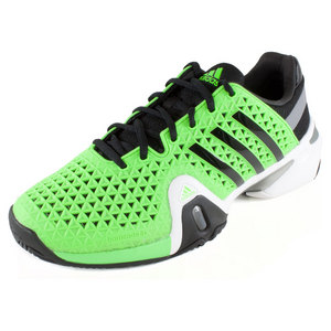 Men`s Barricade 8+ Tennis Shoes Solar Green and Black