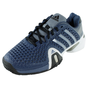 adidas MENS BARRICADE 8+ TENNIS SHOES NAVY/SILV
