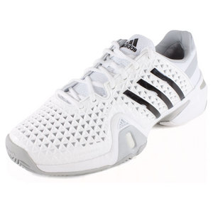 adidas MENS BARRICADE 8+ TENNIS SHOES WH/BK