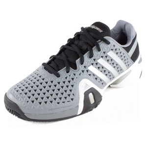 adidas MENS BARRICADE 8+ TENNIS SHOES GY/SILV