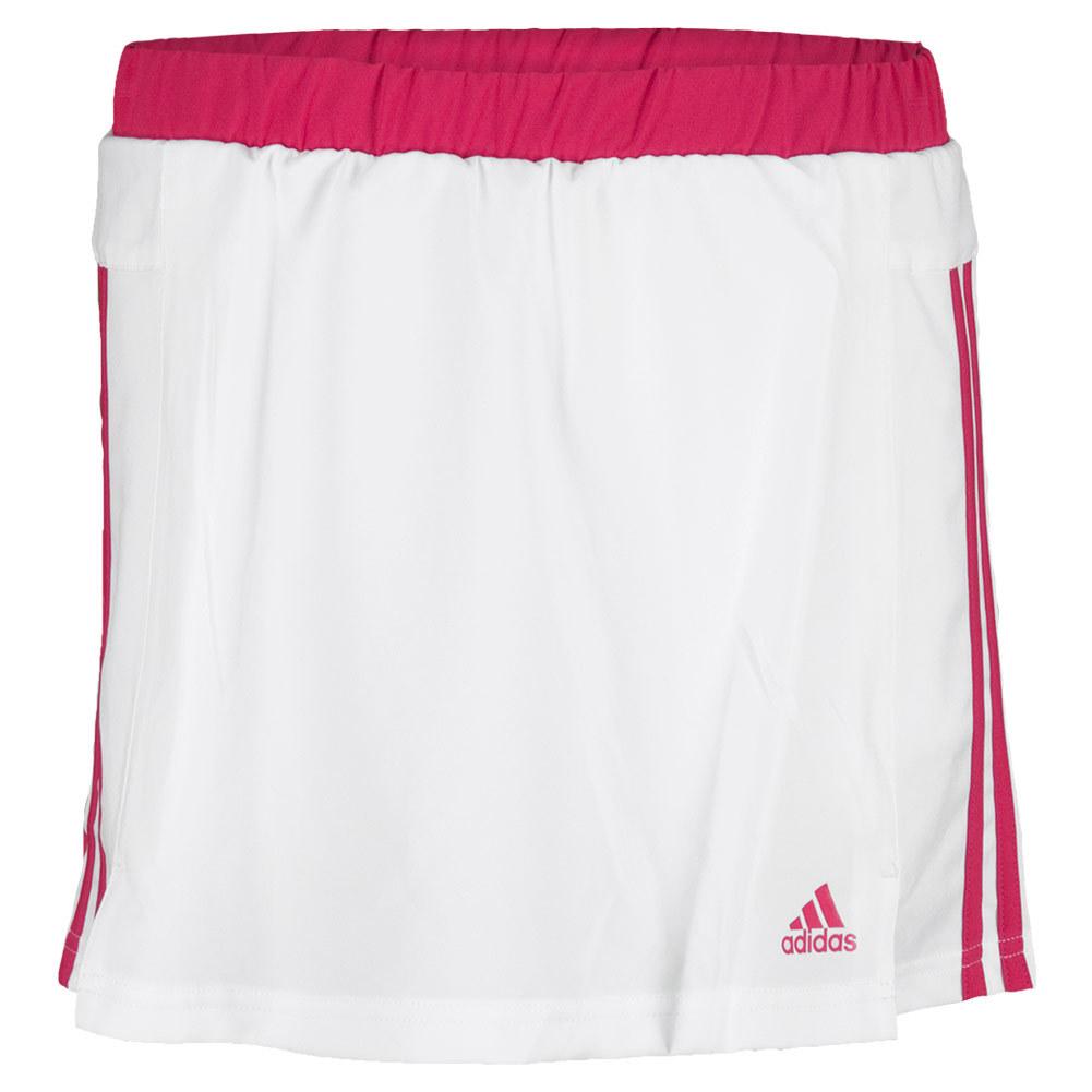 Girls ` Response Tennis Skort White And Bold Pink