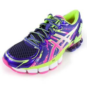 Women`s Gel Sendai 2 Running Shoes Purple and Hot Pink