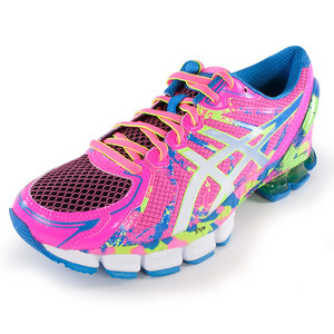 ASICS WOMENS GEL SENDAI 2 RN SHOES HOT PK/WH