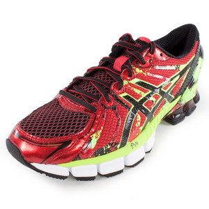 Men`s Gel Sendai 2 Running Shoes High Risk Red and Black