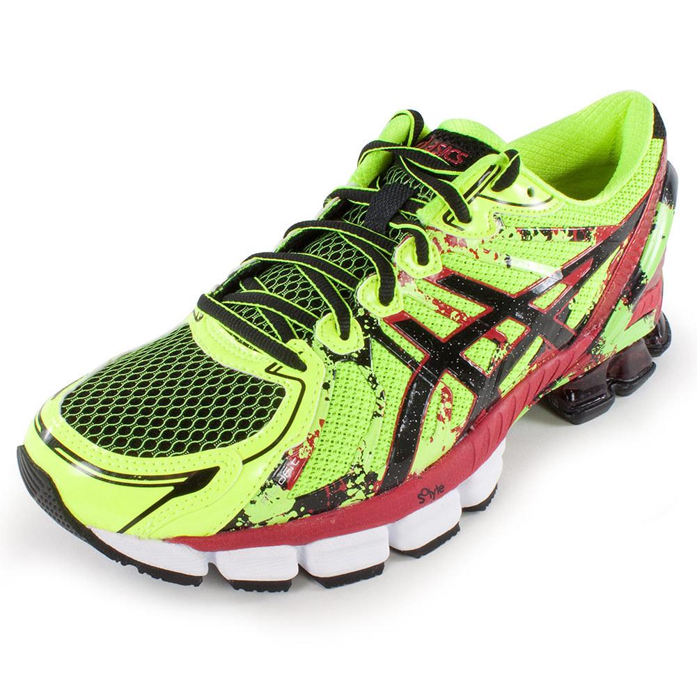 Men's Gel Sendai 2 Running Shoes Flash Yellow And Black