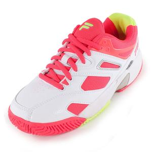 Juniors` Sentinel Tennis Shoes White and Diva Pink