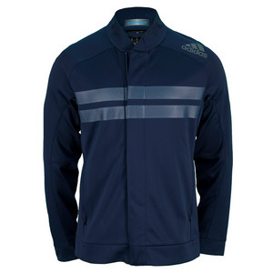 adidas MENS ANDY M BARRICADE TENNIS JACKET NAVY