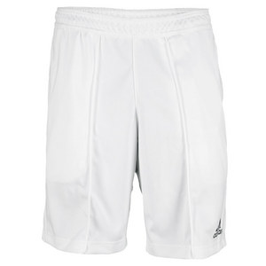 adidas MENS BARRICADE 8.5IN  TNS SHORT WHITE