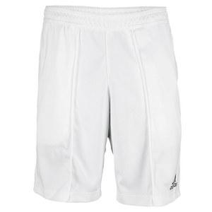 adidas MENS BARRICADE 8.5IN  TNS SHORT WHITE