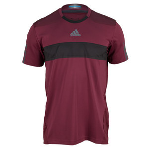 adidas MENS BARRICADE TNS TEE DARK RED
