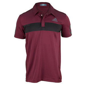 adidas MENS BARRICADE TNS POLO DARK RED