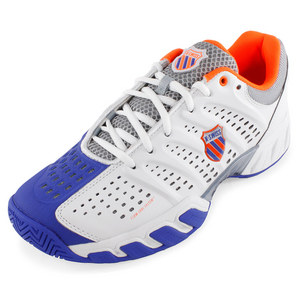 Men`s Bigshot Light Tennis Shoe White and Electric Blue