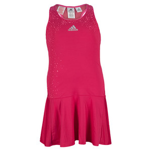 adidas GIRLS ADIZERO TENNIS DRESS BOLD PINK