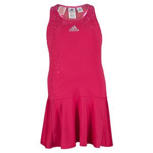 adidas GIRLS ADIZERO TENNIS DRESS BOLD PINK
