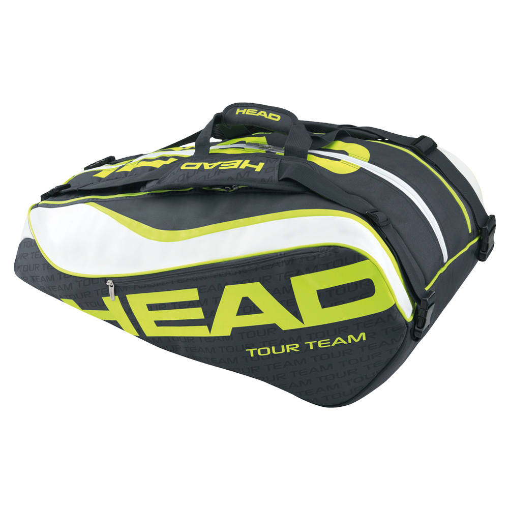Extreme Monstercombi Tennis Bag Anthracite And Neon Yellow