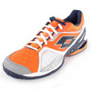 Men`s Raptor Ultra IV Clay Tennis Shoes White and Samba by LOTTO