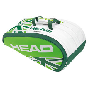HEAD MURRAY SE MONSTERCOMBI TENNIS BAG WH/GN