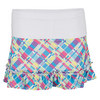 LUCKY IN LOVE Girls` Plaid Ruffle Tennis Skirt Print