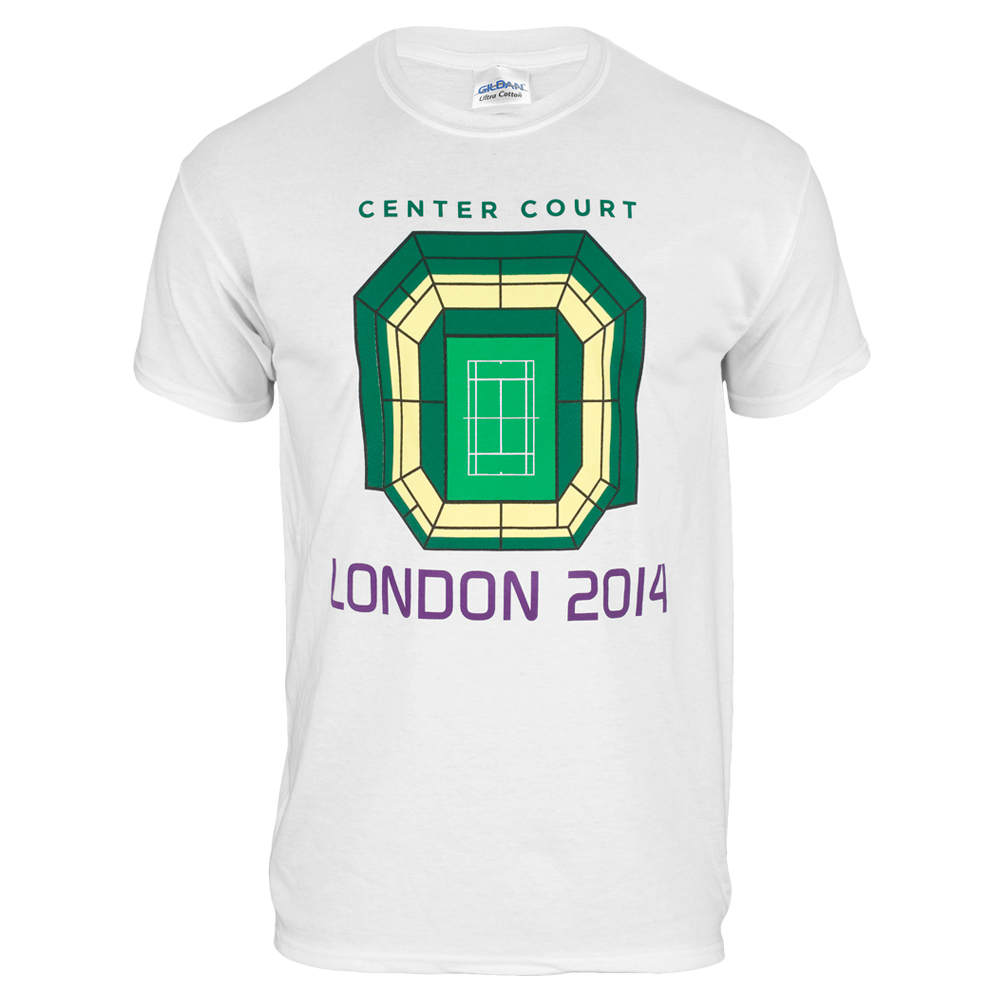Youth Center Court London Tee White