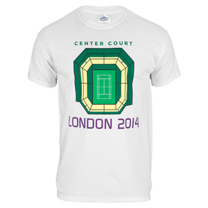 TENNIS EXPRESS CENTER COURT LONDON UNISEX TEE WHITE