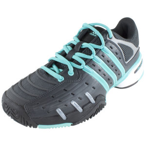 Women`s Barricade V Classic Tennis Shoe Carbon Metallic and Vivid Mint