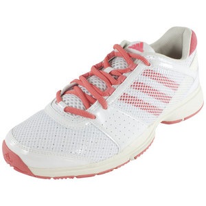 Women`s Barricade Team 3 Tennis Shoes Core White and Poppy Pink