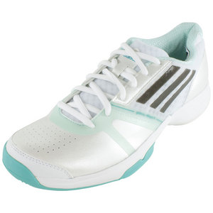 Women`s Galaxy Allegra III Tennis Shoes Core White and Vivid Mint