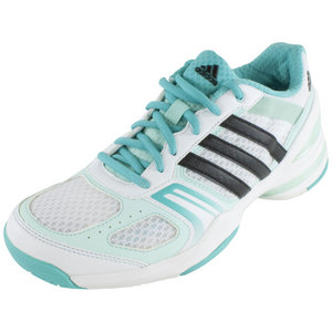 adidas WOMENS RALLY COURT TENNIS SHOES WH/MINT
