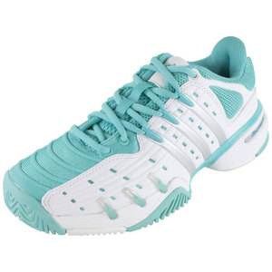 adidas WOMENS BARRICADE V CLASSIC SHOES WH/MINT